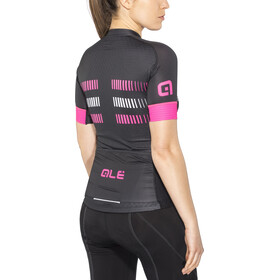 Alé Cycling Graphics PRR Strada Maillot de cyclisme à manches courtes Femme, black-fluo pink-white